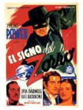 The Mark of Zorro  Spanish Movie Poster  1940