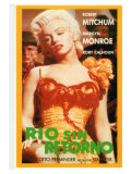 River of No Return  Spanish Movie Poster  1954