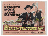 The Sheriff of Fractured Jaw  UK Movie Poster  1958