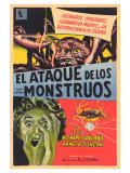 Attack of the Crab Monsters  Spanish Movie Poster  1957