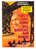 Bridge on the River Kwai  German Movie Poster  1958