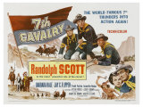 7th Cavalry  UK Movie Poster  1956