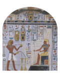 Frescoed Wall of the Shrine of Hathor from Deir el-Bahri