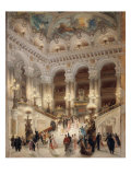 The Staircase of the New Opera of Paris Giclée par Louis Beroud