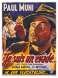 I Am a Fugitive From a Chain Gang  Belgian Movie Poster  1932