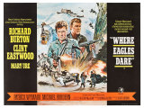 Where Eagles Dare  UK Movie Poster  1968