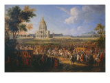 Visit of King Louis XIV at the Hotel Royal des Invalides on July 14  1701