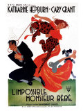 Bringing Up Baby  French Movie Poster  1938