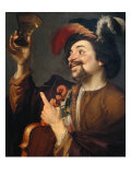 Violin Player with Glass of Wine