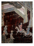 Screen Called 'Coromandel' with Scenes from the Life in the Forbidden Town of Peking: Procession