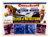 River of No Return  UK Movie Poster  1954