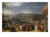 The Festival at Champ de Mars July 14  1790