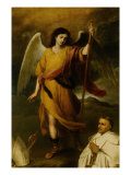 The Archangel Raphael with Bishop Domonte