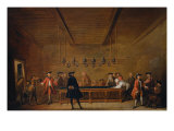 A Room of Game of Billiard at Paris  c 1725