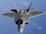 F-22 Raptor Moves into Position to Receive Fuel
