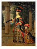 Maria Theresa of Austria  Queen of France  with the Dauphin