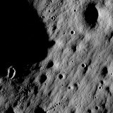 Cratered Regions Near the Moon's Mare Nubium Region