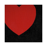 Heart  c1979 (Red on Black)
