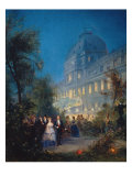 Festival at Night at the Tuileries June 10  1867