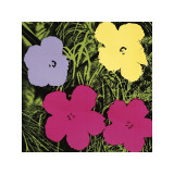 Flowers  c1970 (1 Purple  c1 Yellow  2 Pink)