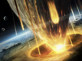 Giant Asteroid Collides with the Earth