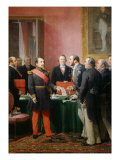 Napoleon III gives a letter to the baron Haussmann June 16  1859