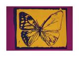 Vanishing Animals: Butterfly  c1986 (Yellow on Purple)