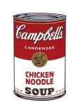 Boite de soupe Campbell I: Nouilles au poulet, vers 1968 Giclée par Andy Warhol