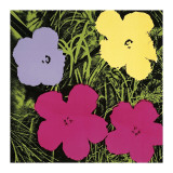 Flowers  c1970 (1 Purple  c1 Yellow  2 Pink)