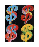 Four Dollar Signs  c1982 (blue  red  orange  yellow)