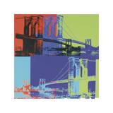 Brooklyn Bridge  c1983 (Orange  Blue  Lime)