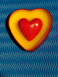 A Love Stone Heart with Blue Background