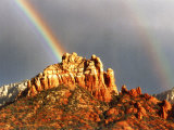 Rainbow over Snoopy Rock  Sedona  Arizona  USA