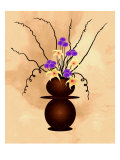 Purple Flowers with Starlilies in Fantasy Vase