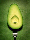 Half an Avocado with a Fork