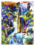 Waterfall in Glorious Tropical Color