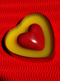 A Love Stone Heart with Red Background