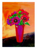 Flowers in Vase Illustration