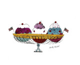 Ice Cream Dessert  c1959 (Three Scoops)