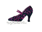 Blue and Pink Shoe  c1955