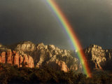 Rainbow over Crimson Cliffs  Sedona  Arizona  USA