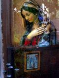 Bust of Maria Viewed Through Window