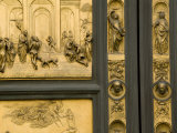 Lorenzo Ghiberti's Portrait Bust on the Baptistry Doors He Designed