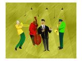 Jazz Band in Spotlights