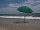 Umbrella Shades the Beach