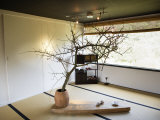 Zen-Like Interior of a Tea House