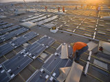 Installing Photovoltaic Panels on a Warehouse Rooftop