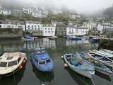 Foggy View in Polperro  a Small Fishing Village