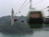 Cable Cars That Connect Sentosa Island with Singapore