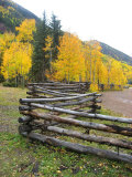 Wooden Fence in the Mountains of Colorado